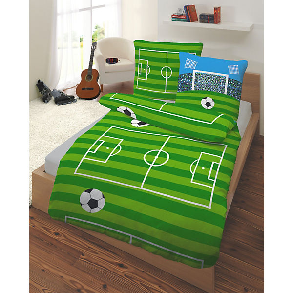 kinderbettw sche fu ball renforce 135 x 200 cm mytoys. Black Bedroom Furniture Sets. Home Design Ideas