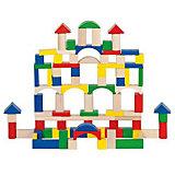 Игровой набор из деревянных строительных кубиков, GOKI