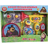Набор музыкальных инструментов, 10 предметов, Маша и Медведь
