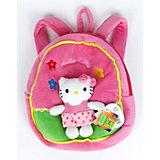 Рюкзак с мягкой игрушкой, Hello Kitty, МУЛЬТИ-ПУЛЬТИ