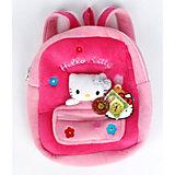 Рюкзак с мягкой игрушкой и карманом, Hello Kitty, МУЛЬТИ-ПУЛЬТИ