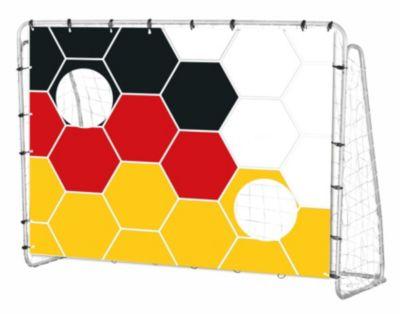 null Fussballtor mit Deutschland-Torwand 213 cm