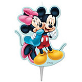Kuchenkerze Mickey und Minnie