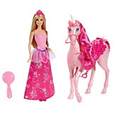 Barbie Einhorn mit Puppe