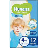 Подгузники Huggies Ultra Comfort для мальчиков (4+) 10-16 кг, 17 шт.