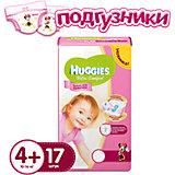 Подгузники Huggies Ultra Comfort для девочек (4+) 10-16 кг, 17 шт.