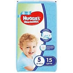 Подгузники Huggies Ultra Comfort для мальчиков (5) 12-22 кг, 15 шт.