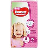 Подгузники Huggies Ultra Comfort 5 для девочек, 12-22 кг, 15 шт.