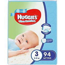 Подгузники Huggies Ultra Comfort для мальчиков Giga Pack (3) 5-9 кг, 94 шт.