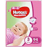 Подгузники Huggies Ultra Comfort для девочек Giga Pack (3) 5-9 кг, 94 шт.