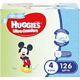 Подгузники Huggies Ultra Comfort 4 Disney Box для мальчиков, 8-14 кг, 126 шт. (42х3)