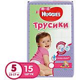 Трусики-подгузники Huggies 5 для девочек 13-17 кг, 15 шт.
