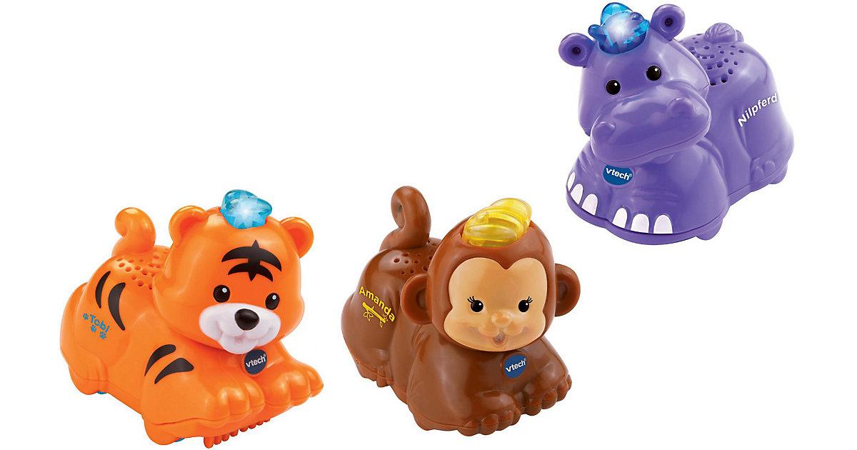 Tip Tap Baby Tiere - 3er-Set Tiger, Affe und Nilpferd