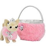 Плюшевая собачка Чихуахуа принцесса, с розовой сумкой, 20 см, Simba