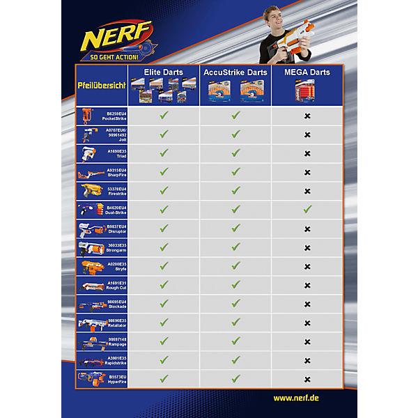 Комплект 10 стрел для бластеров МЕГА, NERF
