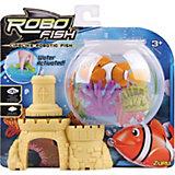 РобоРыбка с 2 кораллами и замком, RoboFish