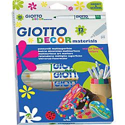 Фломастеры для декорирования, классические цвета, 12 шт.