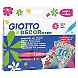 GIOTTO Decor Textilmarker, 6 Farben