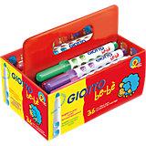 GIOTTO be-bè Super-Jumbo-Filzstifte XL-Box mit 36 Farben