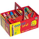 GIOTTO be-bè Super-Buntstift XL-Box mit 36 Farben und 3 Spitzern
