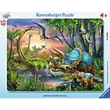Пазл «Динозавры на рассвете», 45 деталей, Ravensburger