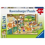 Пазл «День на ферме», 2х24 деталей, Ravensburger