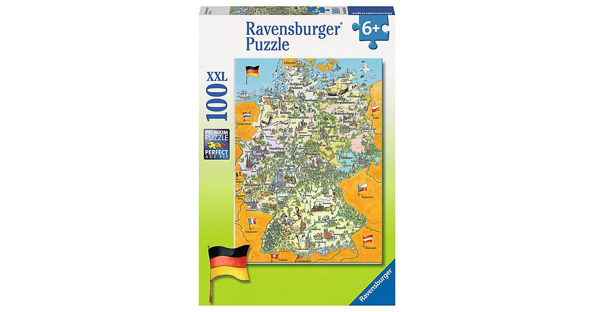 Puzzle Bunte Deutschlandkarte 100 Teile