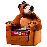 Кресло-игрушка Миша (раскладывающееся), Маша и медведь