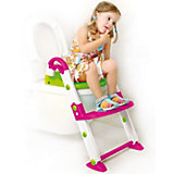 Toilettentrainer 3 in 1, pink / weiß / grün