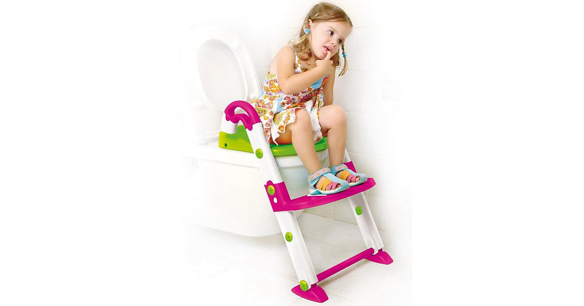 Toilettentrainer 3 in 1, pink / weiß / grün mehrfarbig