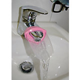 Aqueduck Wasserhahnverlängerung, tranparent/rosa