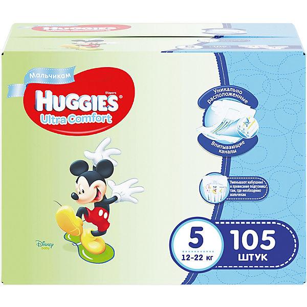 Huggies Подгузники для мальчиков Ultra Comfort 12-22 кг  105 шт