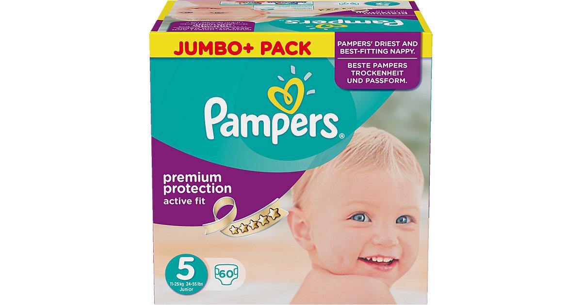 1x60 Stück PAMPERS Active Fit Gr.5 Junior 11-25kg Jumbo plus Pack Gr. 11-25 kg