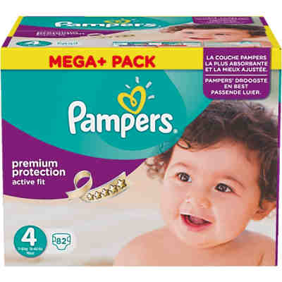 1x82 Stück PAMPERS Active Fit Gr.4 Maxi 7-18Kg Mega plus Pack