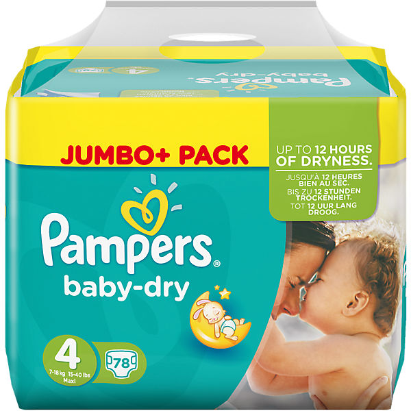 1x78 Stück PAMPERS Baby Dry Gr.4 Maxi 7-18kg Jumbo Plus Pack