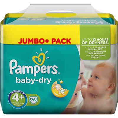 1x76 Stück PAMPERS Baby Dry Gr.4+ Maxi Plus 9-20kg Jumbo Plus Pack