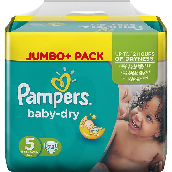 1x72 Stück PAMPERS Baby Dry Gr.5 Junior 11-25kg Jumbo Plus Pack