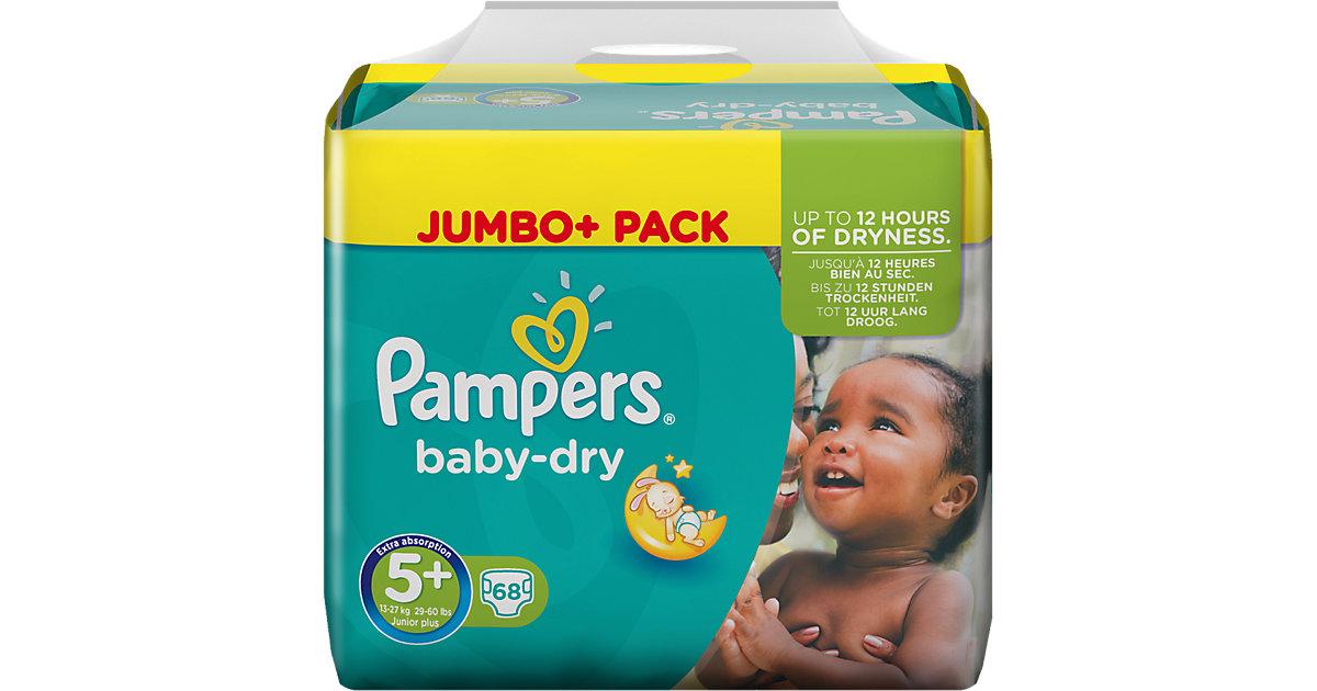 1x68 Stück PAMPERS Baby Dry Gr.5+ Junior Plus 13-27kg Jumbo Plus Pack Gr. 13-27 kg