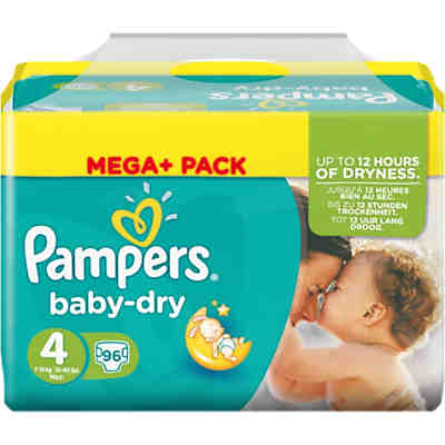 1x96 Stück PAMPERS Baby Dry Gr.4 Maxi 7-18kg Mega Plus