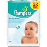 PAMPERS Feuchttücher Fresh Clean Vorteilspack 5x64 Stk.