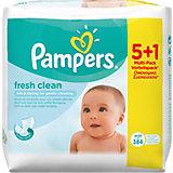 PAMPERS Feuchttücher Fresh Clean Vorteilspack (5 + 1 GRATIS Packung)
