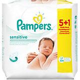 PAMPERS Feuchttücher Sensitive Vorteilspack (5 + 1 GRATIS Packung)