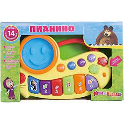 "Пианино ""Маша и медведь"", со светом, Играем вместе"