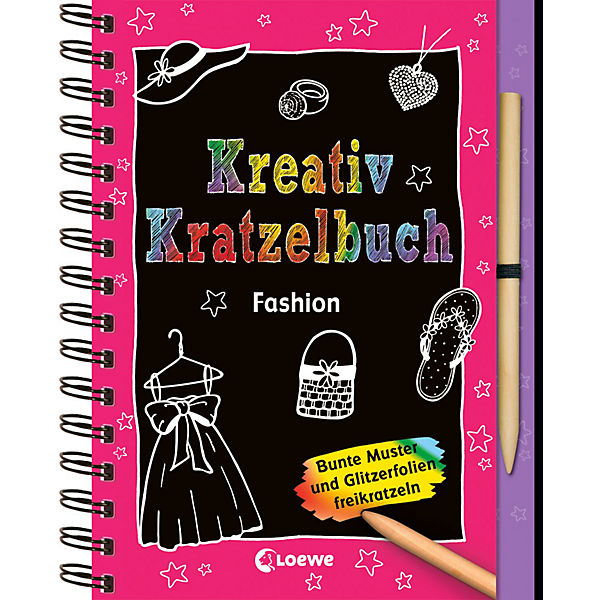Kreativ-Kratzelbuch: Fashion