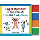 Fingerstempeln für kleine Künstler-Set: Monster und Abenteuer