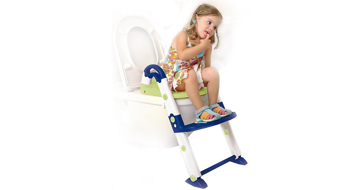 Toilettentrainer 3 in 1, blau / weiß / lindgrün mehrfarbig