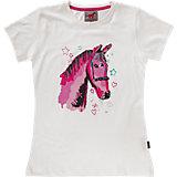RED HORSE T-Shirt für Mädchen, weiß