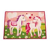 Kinderteppich Pferde, pink, 80 x 120 cm