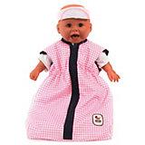 Puppen-Schlafsack Karo rosa