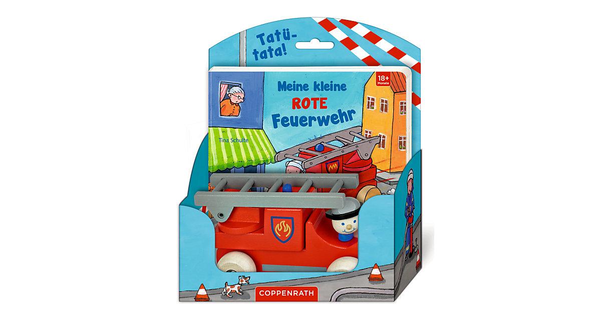 Buch - Meine kleine rote Feuerwehr, mit Holzauto